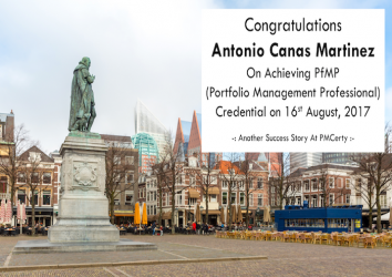 Congratulations Antonio on Achieving PfMP..!