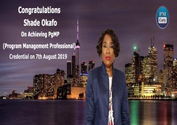 Congratulations Shade on Achieving PgMP..!