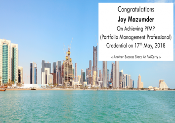 Congratulations Joy on Achieving PfMP..!