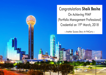 Congratulations Shaik Basha on Achieving PfMP..!