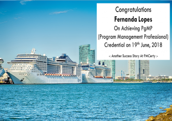 Congratulations Fernanda on Achieving PgMP..!