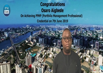 Congratulations Osaro on Achieving PfMP..!