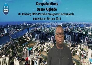Congratulations Osaro on Achieving PfMP..!
