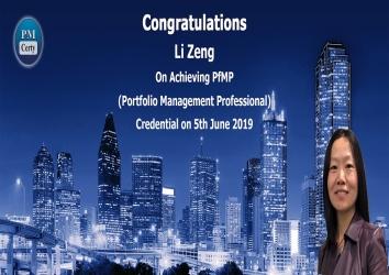 Congratulations Li On Achieving PfMP..!