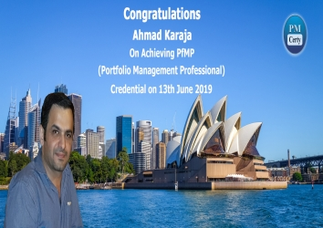 Congratulations Ahmad On Achieving PfMP..!