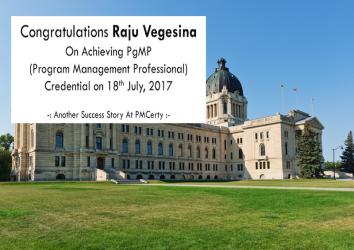 Congratulations Raju on Achieving PgMP..!