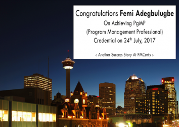 Congratulations Femi on Achieving PgMP..!