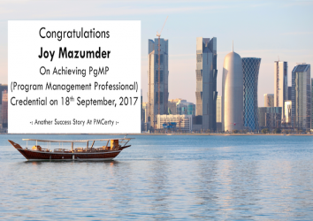 Congratulations Joy on Achieving PgMP..!