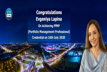 Congratulations Evgeniya on Achieving PfMP..!