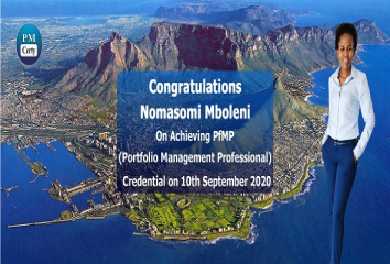 Congratulations Nomasomi on Achieving PfMP..!