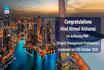 Congratulations Hind on Achieving PMP..!