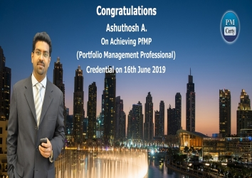 Congratulations Ashuthosh On Achieving PfMP..!