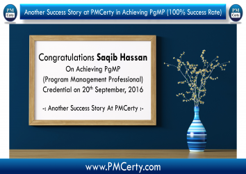 Congratulations Saqib on Achieving PgMP..!