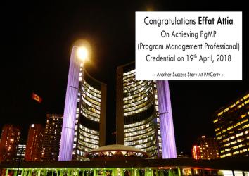 Congratulations Effat on Achieving PgMP..!