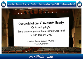 Congratulations Viswanath on Achieving PgMP..!