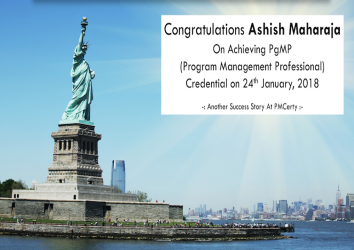 Congratulations Ashish on Achieving PgMP on 24th January, 2018..!