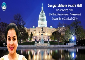 Congratulations Swathi On Achieving PfMP..!