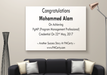 Congratulations Mohammed Alam on Achieving PgMP..!
