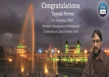 Congratulations Tayyab on Achieving PfMP..!