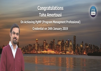 Congratulations Taha on Achieving PgMP..!