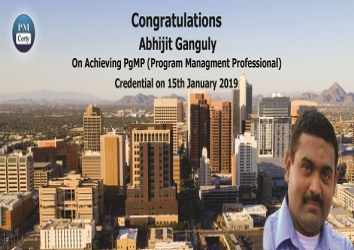 Congratulations Abhijit on Achieving PgMP..!