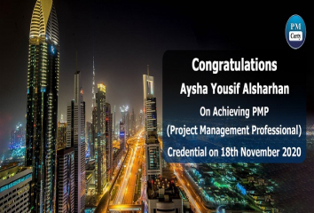 Congratulations Aysha on Achieving PMP..!
