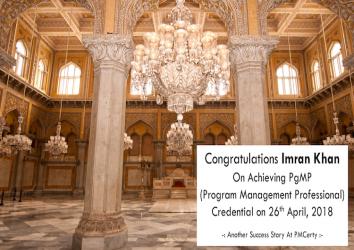Congratulations Imran on Achieving PgMP..!