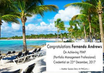 Congratulations Fernando on Achieving PfMP..!