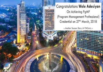 Congratulations Wole on Achieving PgMP..!
