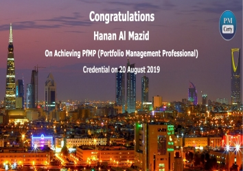 Congratulations Hanan on Achieving PfMP..!
