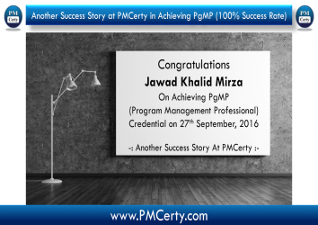 Congratulations Jawad on Achieving PgMP..!