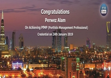 Congratulations Perwez on Achieving PfMP..!