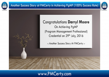 Congratulations Darryl On Achieving PgMP..!