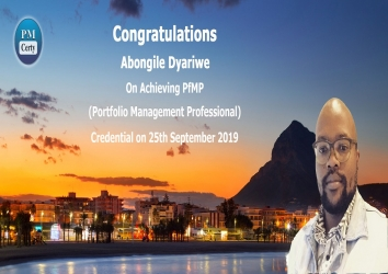 Congratulations Abongile on Achieving PfMP..!