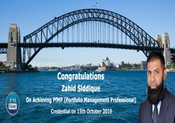 Congratulations Zahid on Achieving PfMP..!