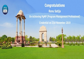Congratulations Renu on Achieving PgMP..!