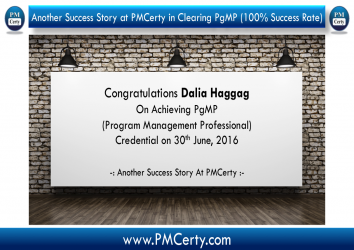 Congratulations Dalia Haggag On Achieving PgMP..!