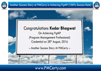 Congratulations Kedar on Achieving PgMP..!