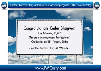 Congratulations Kedar on Achieving PgMP..!