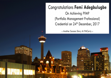 Congratulations Femi on Achieving PfMP..!